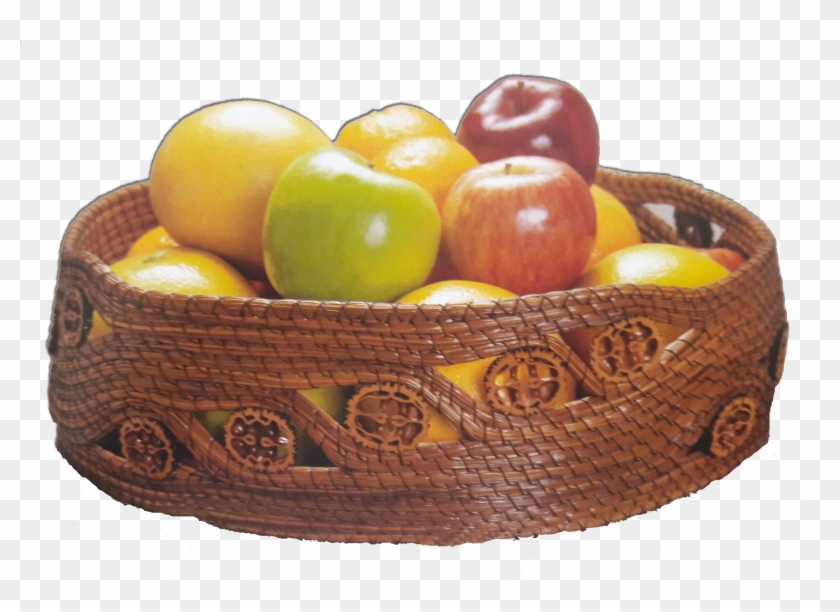 Made With Braided Pine Needles, Basketry Thread And - Plum Tomato Clipart #5519686