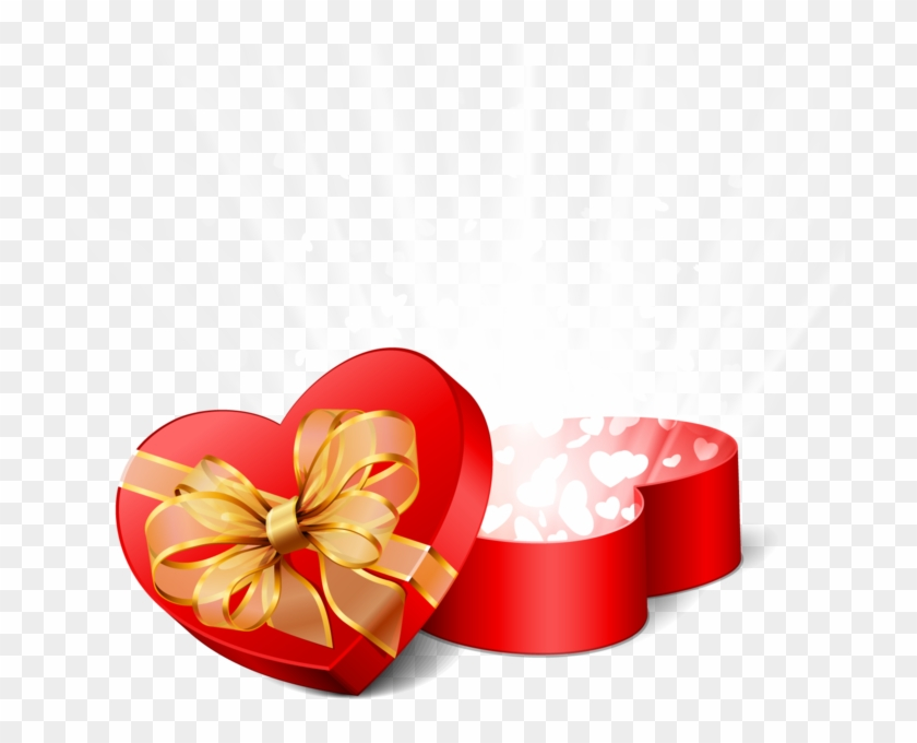 Glowing Heart Box - Happy Valentines Day Hearts Clipart #5527535
