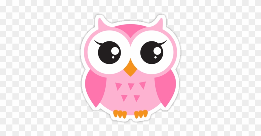 #owl #cute #pink #coral #light Pink #aww #freetoedit - Cute Cartoon Baby Owl Clipart #5532481