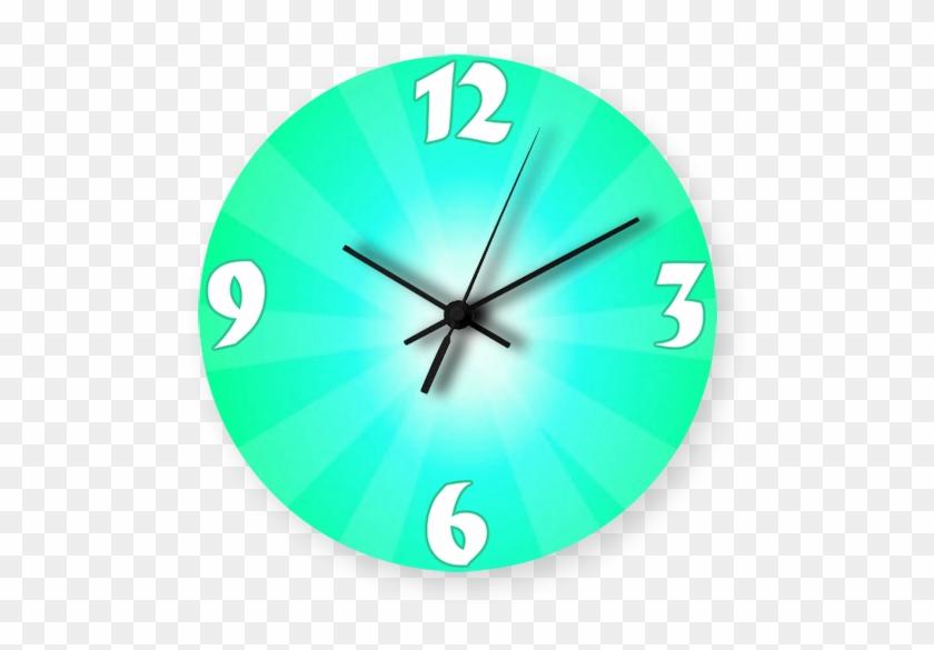Green Gradient Color Printed Wall Clock - Wall Clock Clipart #5540089