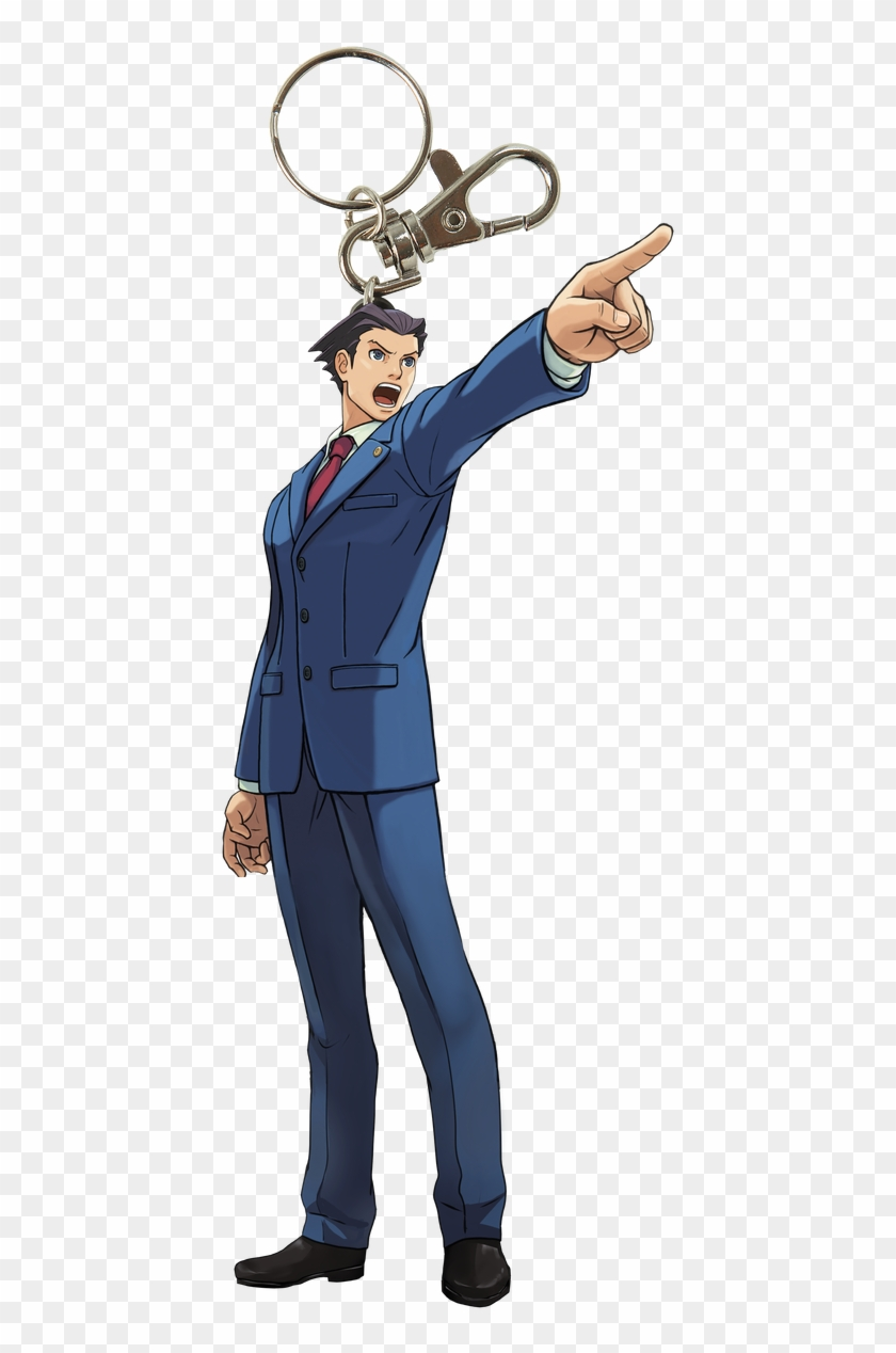 Ace Attorney Keychain Key01 Phoenix Wright Objection Clipart 5542308 Pikpng