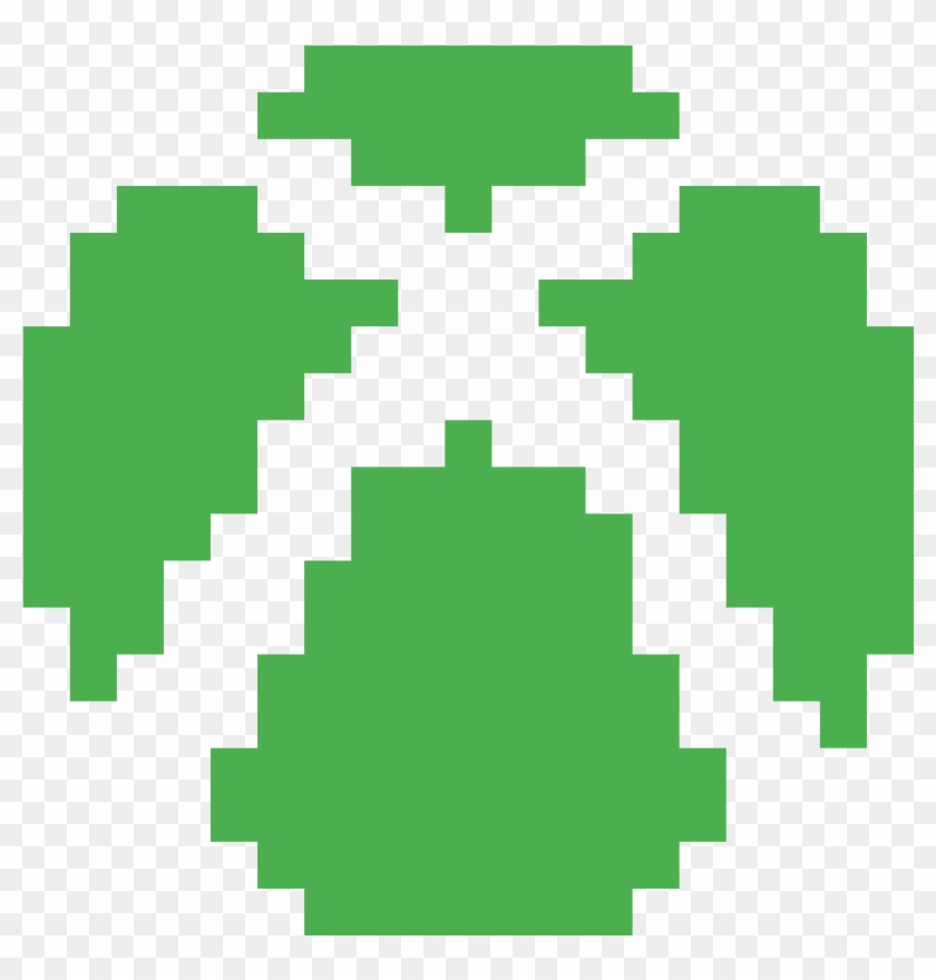 Xbox One Logo Minecraft Xbox Logo Pixel Art Clipart 5543470 Pikpng