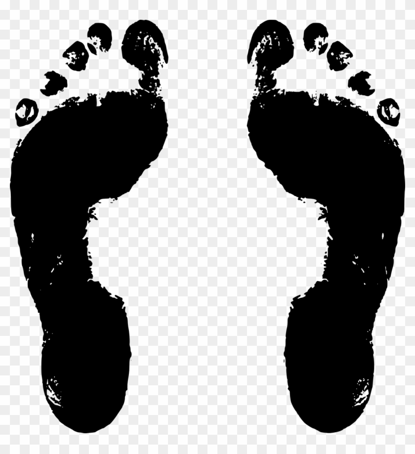 Baby Feet Png - Black And White Footprints Clipart@pikpng.com