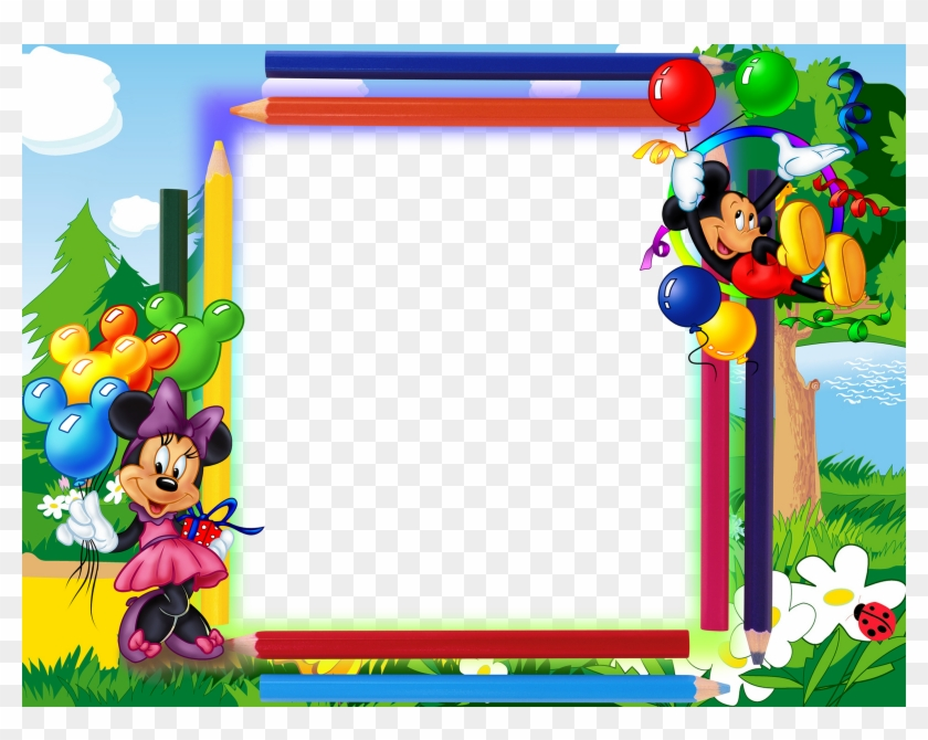 Mickey Mouse Frame Wallpapers High Quality Download - Minnie And Mickey Mouse Border Design Clipart #5550311