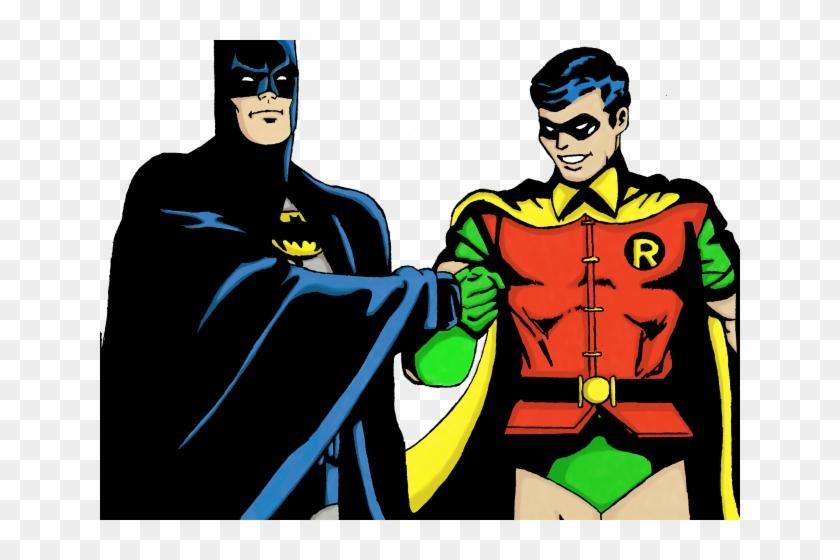 Superhero Robin Clipart Batman Character - Batman And Robin Png Transparent Png #5556695