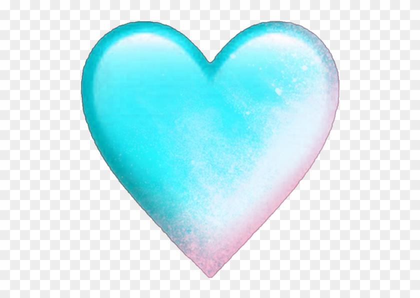 #heart #hearts #blue #emoji #emojis #pink #smoke - Heart Clipart #5568203