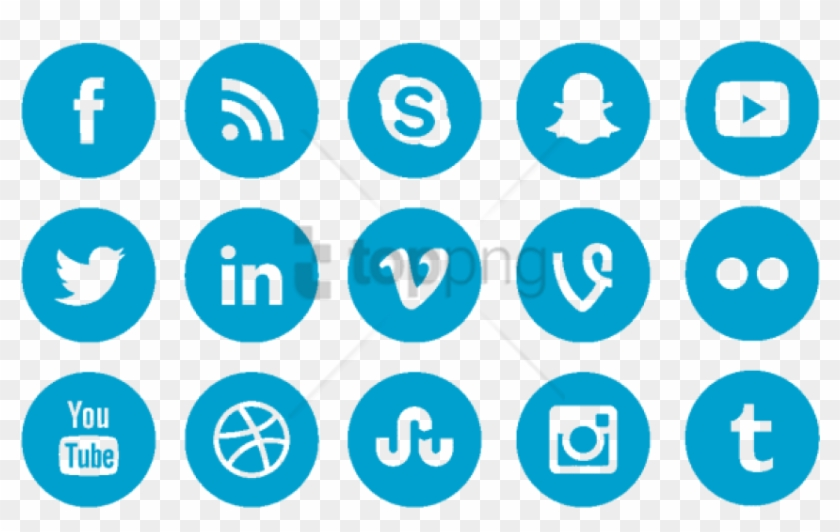 Facebook Twitter Youtube Social Media Icon, Facebook - Blue Social Media Icons Png Clipart #5576816