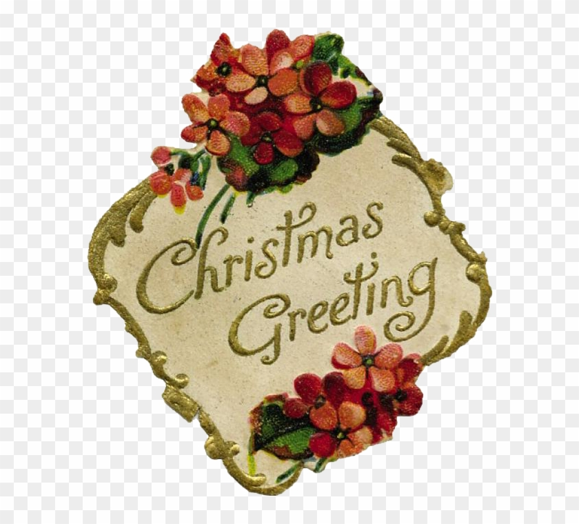 Merry Christmas, My Friends - Vintage Merry Christmas Clip Art - Png Download #5576894