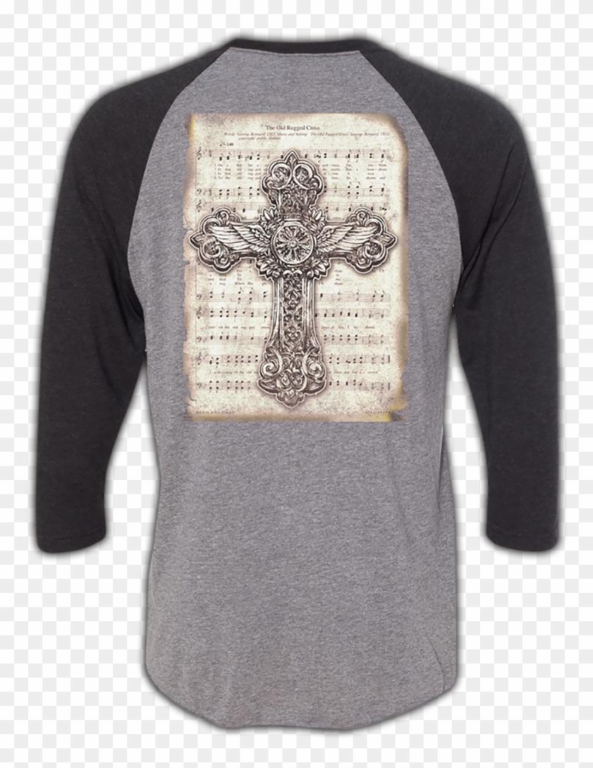"""the Old Rugged Cross"" Raglan - Long-sleeved T-shirt Clipart #5594106"