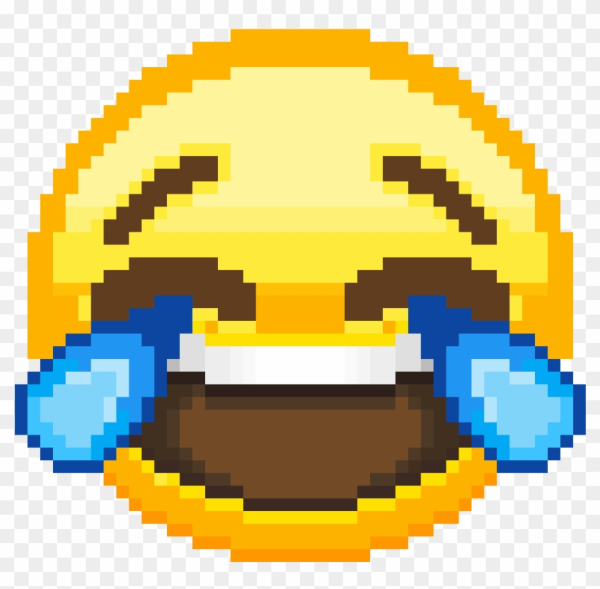 Laughing Crying Emoji - Lmao Emoji Pixel Art Clipart #560734