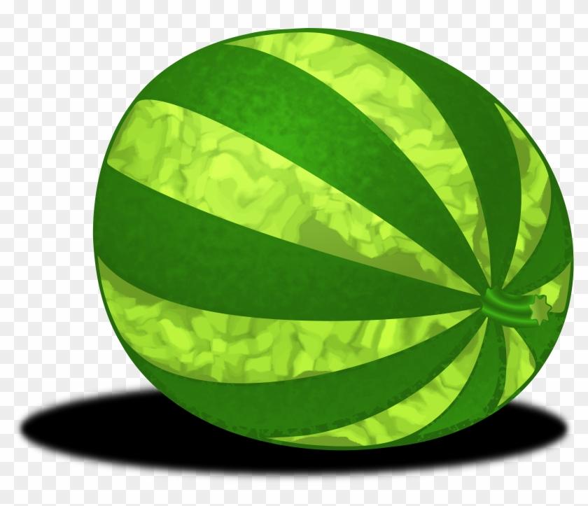 Watermelon Clipart Transparent - Whole Watermelon Clipart - Png Download #561325