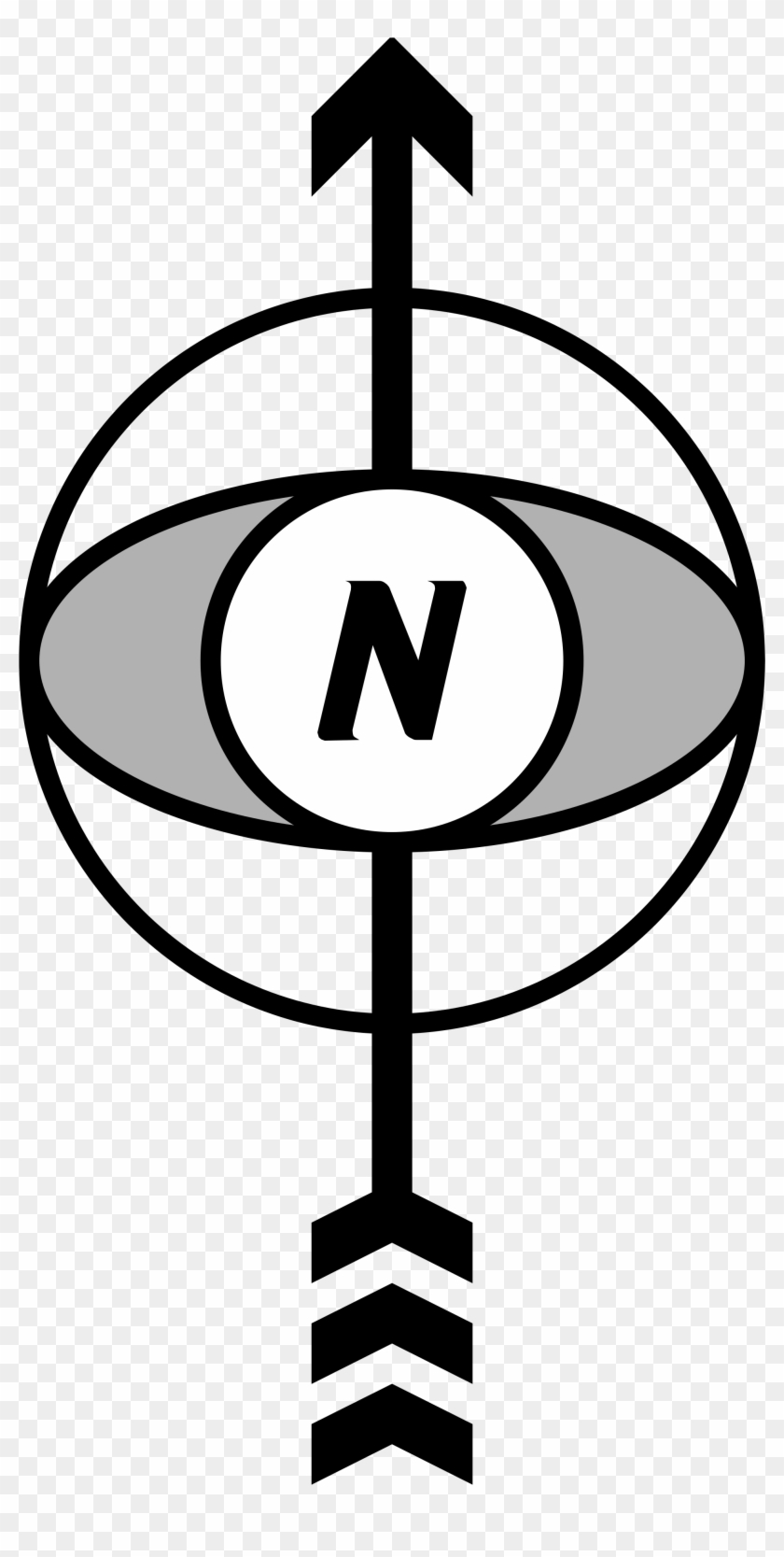 Orientation North Arrow Png - Orientation In A Map Clipart #561377
