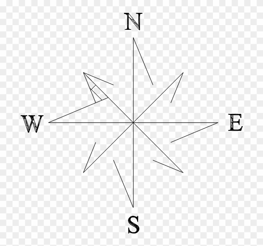 North Arrow - Line Art Clipart #561542