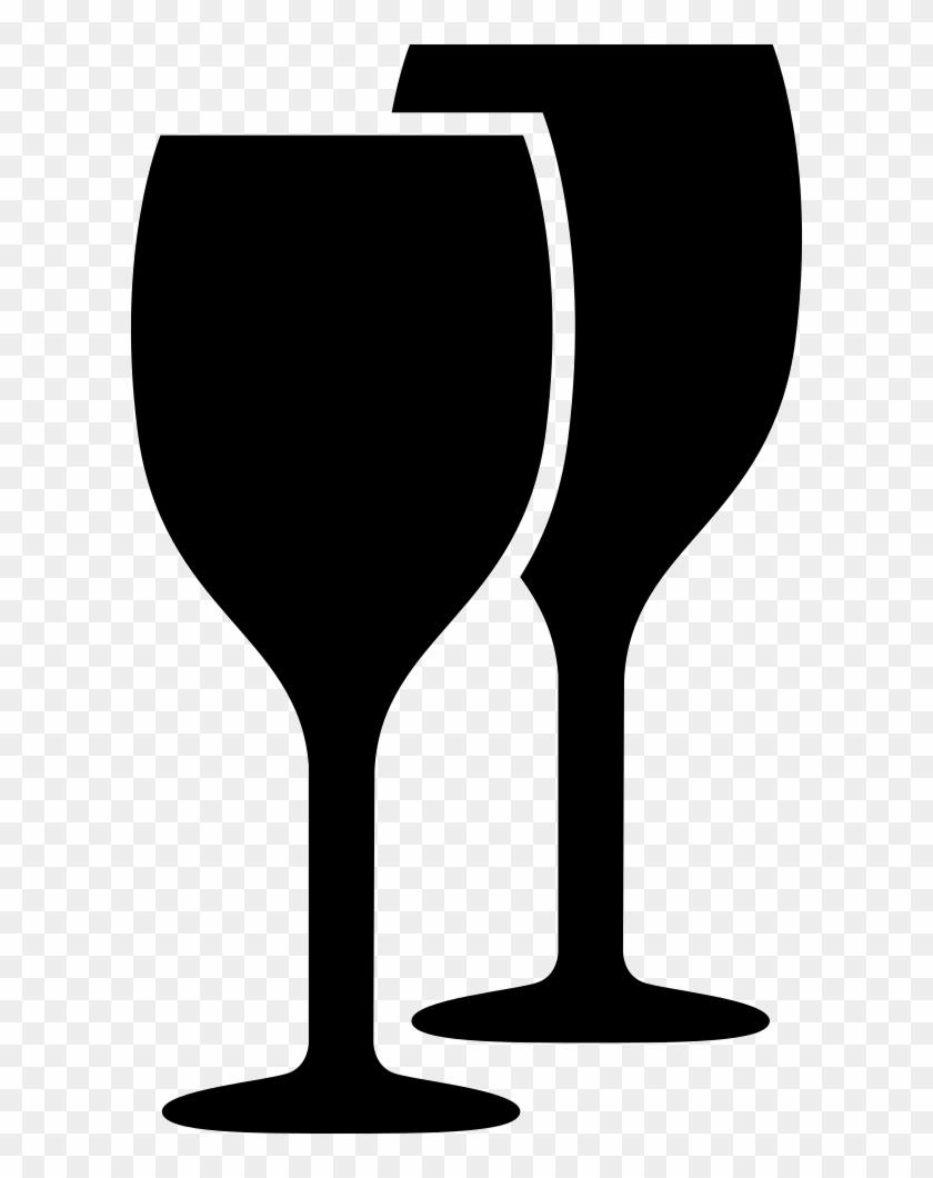 Wine Glasses Black Couple Comments - Wine Glass Png Clipart, Transparent Png #561973
