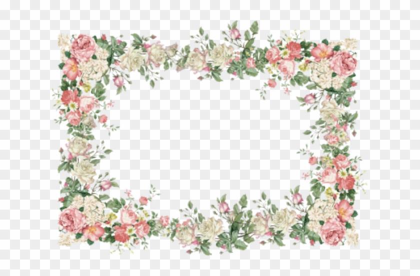 Vintage Floral Page Border, HD Png Download (#568156) - PikPng