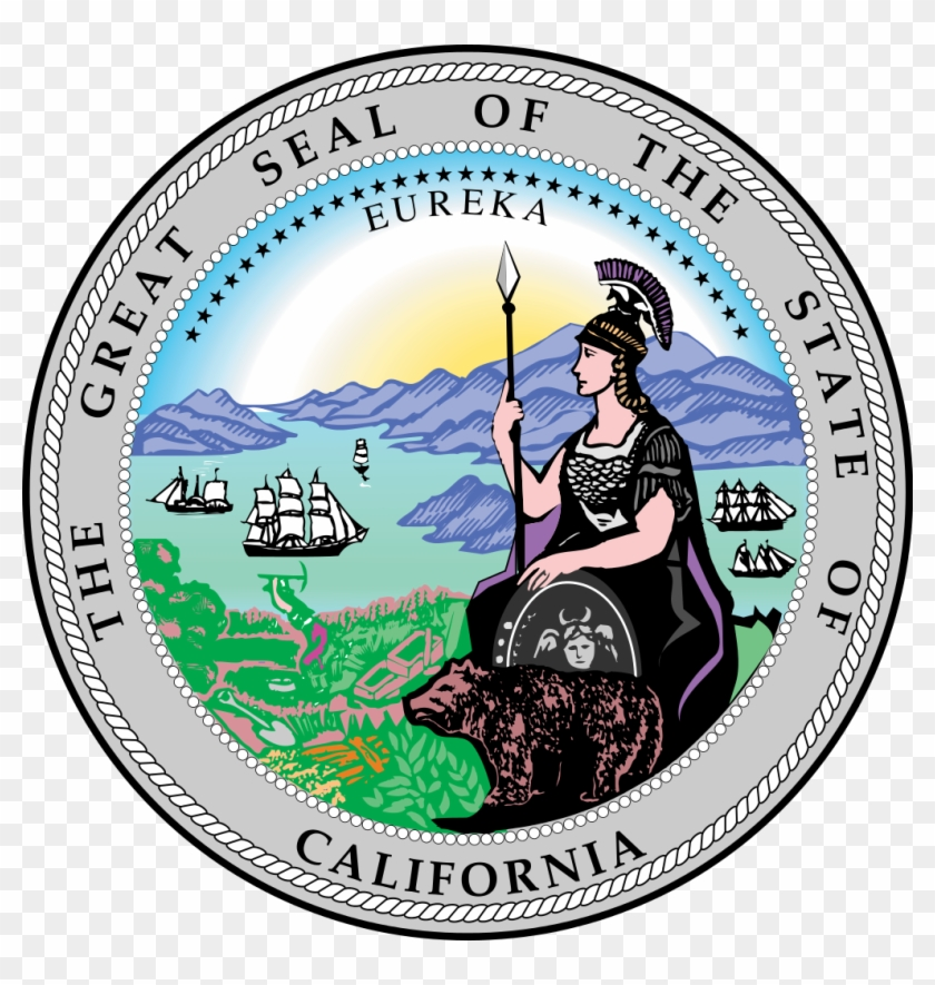 File - California-stateseal - Svg - California Official State Seal Clipart #5630594
