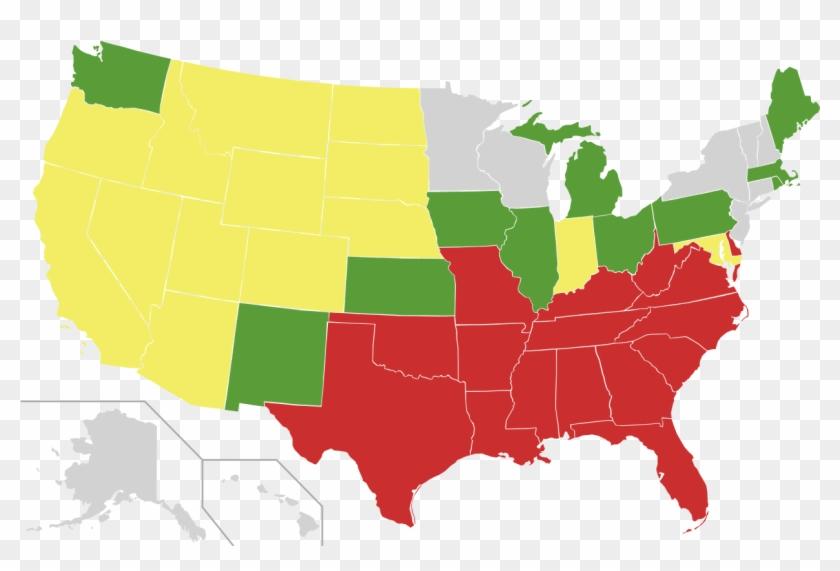 File - Us Miscegenation - Svg - Us Senate Map 2019 Clipart #5635950