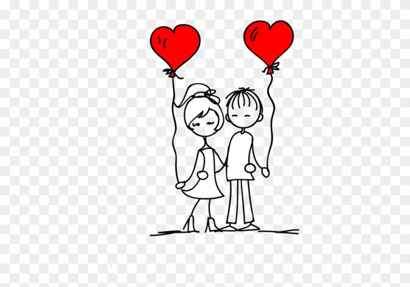 ♡couple - Couple Doodle Png Clipart #5642484