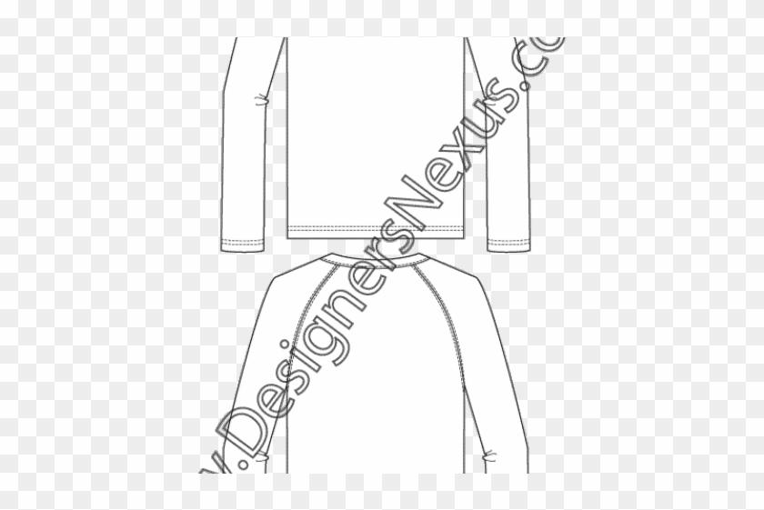 Original - T Shirt Flat Sketches Clipart #5643785