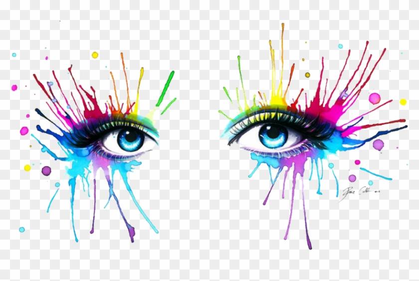 #eyes #color #splash - Rainbow Art Eyes Clipart #5645310
