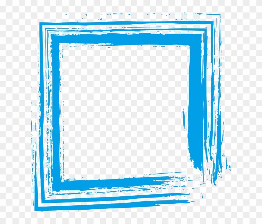 Wedding Photo Frames - Blue Frame Design Png Clipart #5649978