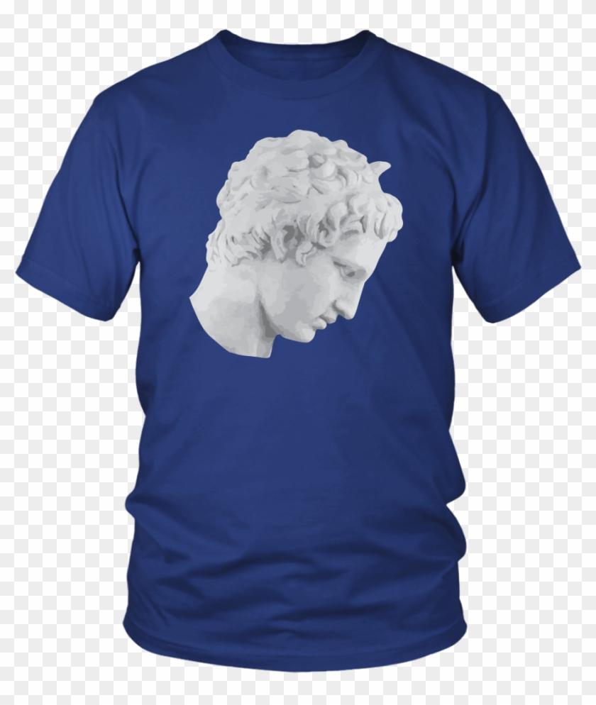 Greek Statue Side Face Tee Shirt Mens Or Womens - Larry Bernandez T Shirt Clipart #5652135