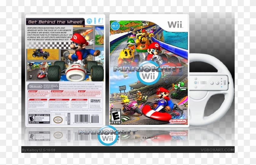 Mario Kart Wii Box Art Cover Wii Clipart 5652595 Pikpng