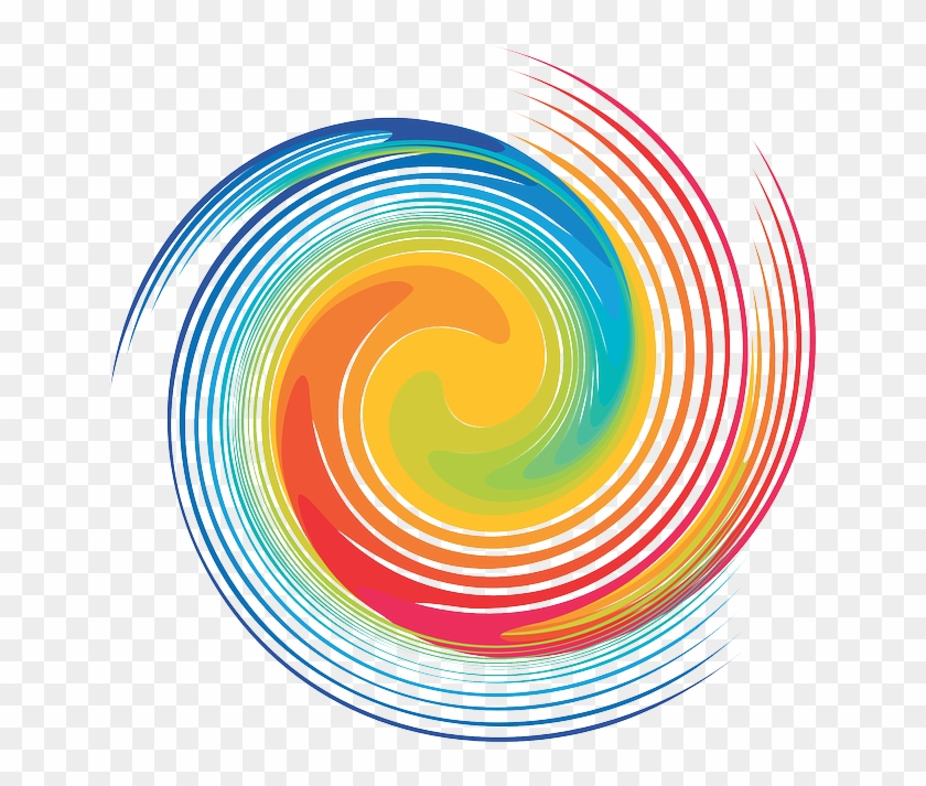 Swirl, Color, Abstract - Colorful Swirl Transparent Background Clipart #5656527