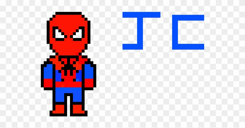 Spooderman - Spiderman Minecraft Pixel Art Clipart #5661360