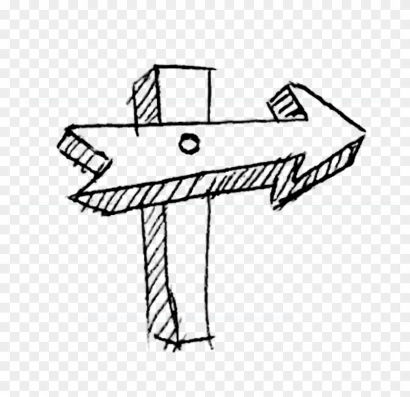 Banner Royalty Free Stock Drawing Arrow Graffiti - วาด ลาย เส้น แบบ ขยุกขยิก Clipart #5670060