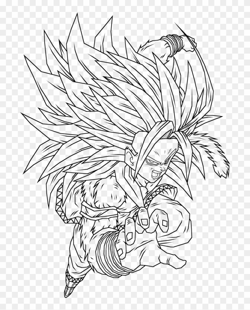 - Goku Ssj5 Coloring Pages 3 By Morgan - Coloring Book Clipart