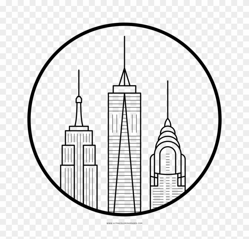 Manhattan Skyline (With images) | Coloring pages, Coloring books ... | 808x840