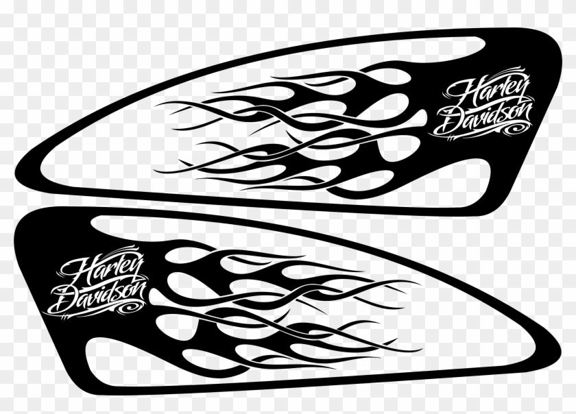 Harley Decals Airbrush Gas Tank Stencils Vinyl Smokin - Tank Harley Davidson Eagle Decals Clipart #5692260