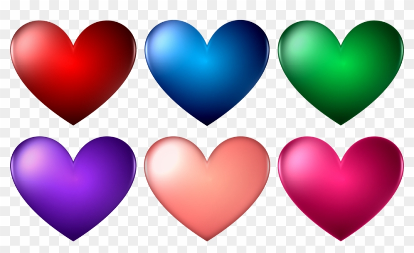 Heart Organ Png - Heart Shape Different Color Clipart #5699413