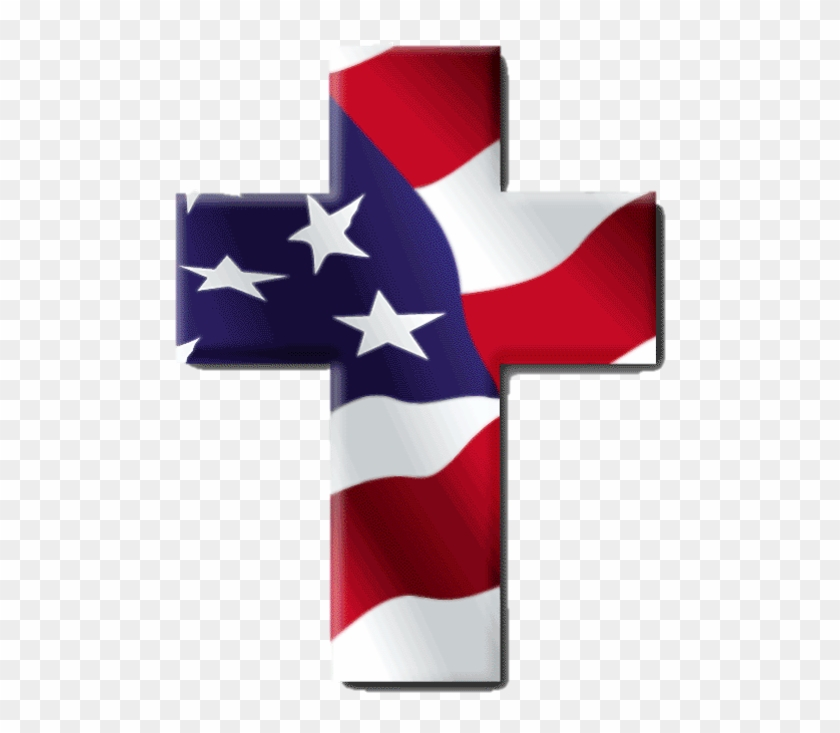 Cross And Us Flag , Png Download - Cross And Us Flag Clipart #571069