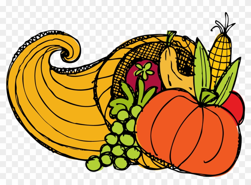 28 Collection Of Day After Thanksgiving Clipart - Cornucopia Transparent Thanksgiving, HD Png Download #578547