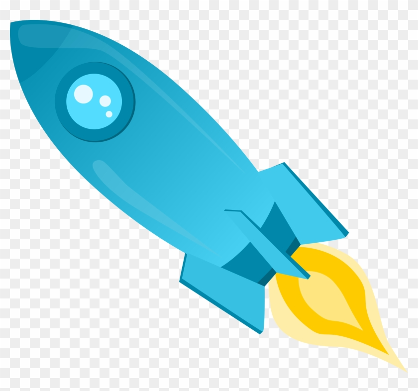 Rocket Png Image Hd - Blue Rocket Clipart Png Transparent Png #579090