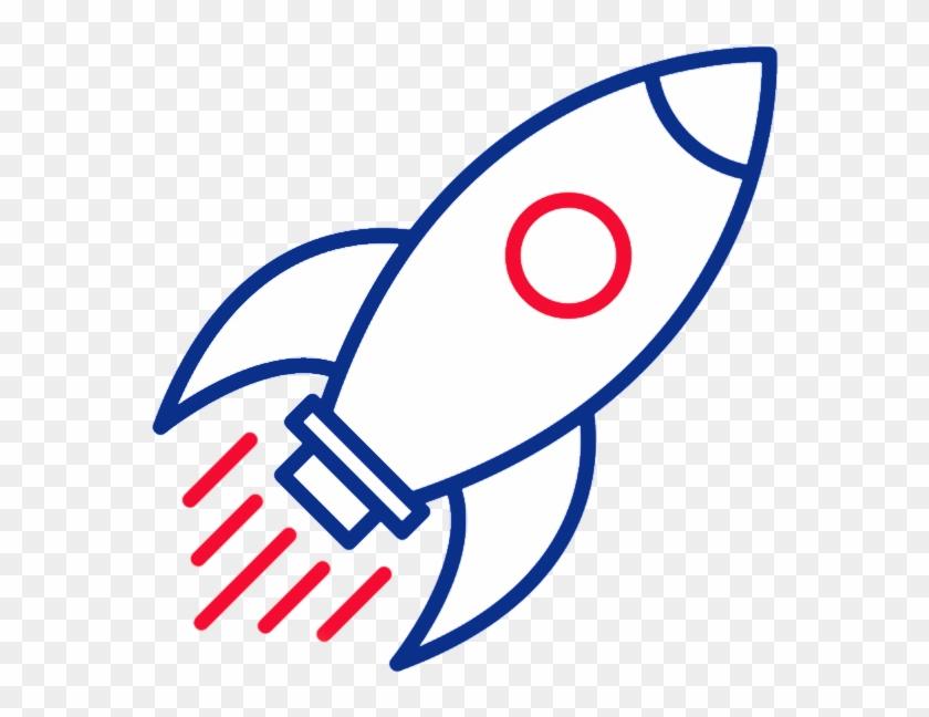 Outline Of A Rocket , Png Download - Rocket Clipart #579252