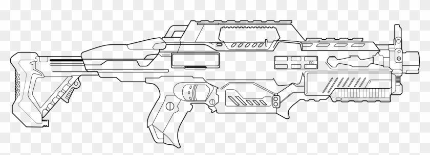Drawn Sniper Nerf Gun Nerf Gun Coloring Pages Clipart 5700054 Pikpng