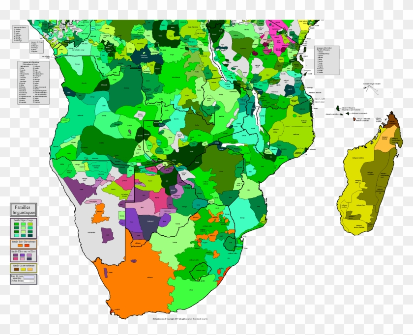 Xmaps For Africa Languages In Southern Africa Maps - Language Map Democratic Republic Of Congo Clipart #5701152