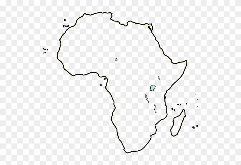 Be - Blank Map Africa Lakes Clipart #5701722