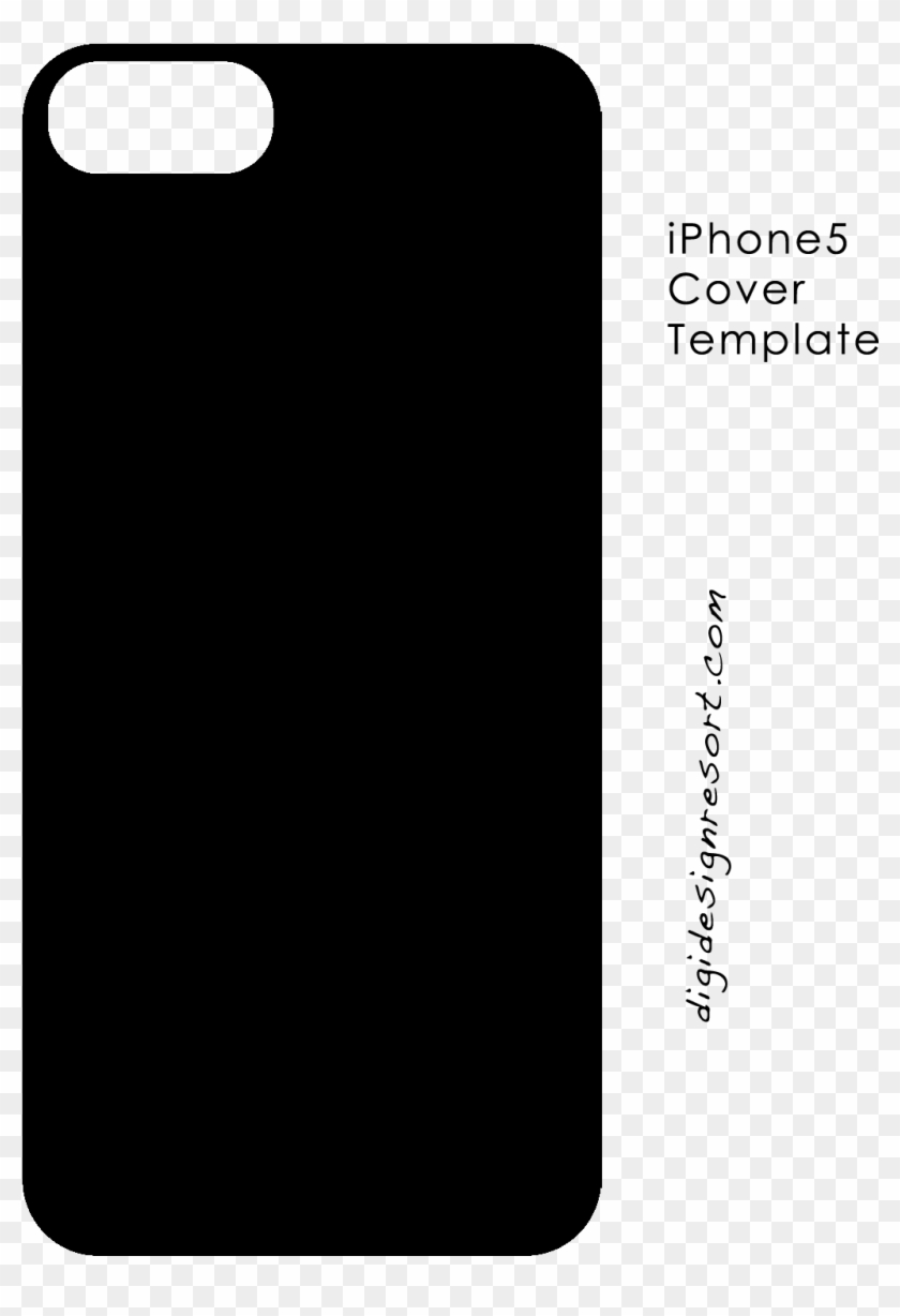 iphone cover template psd