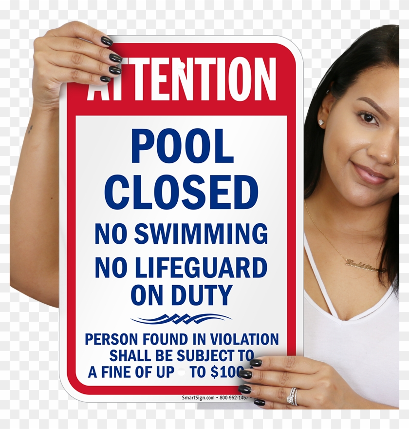 Pool Closed No Swimming Kentucky Sign - Please Close The Door Signs Funny Clipart #5705343