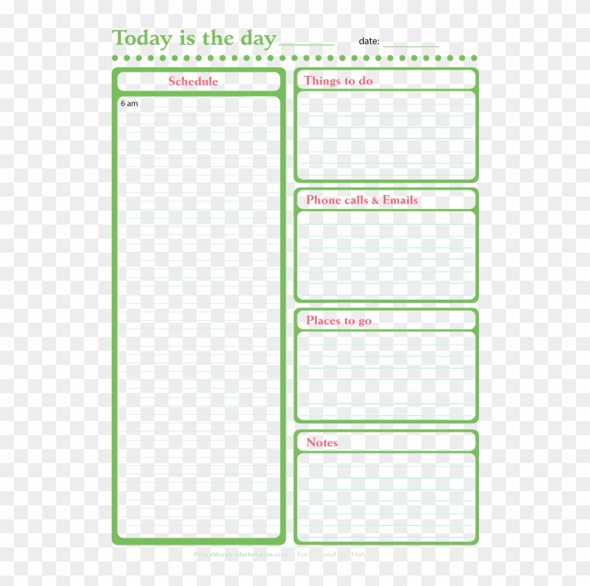 Free Printable Daily Planner 133955 - Day To Do List Clipart #5714218