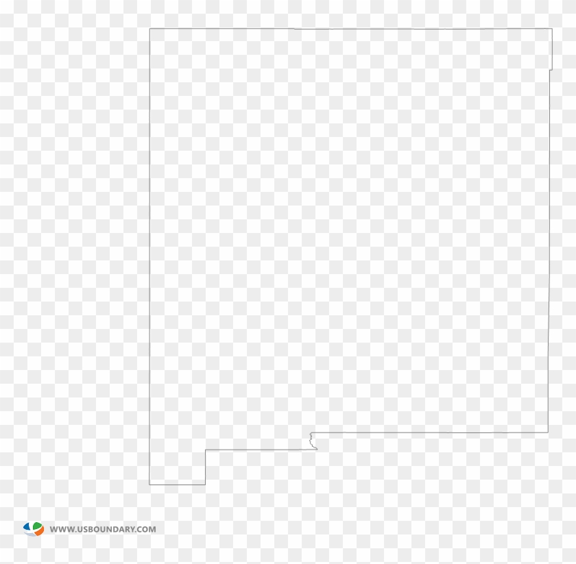New Mexico Outline Map - New Mexico State Outline Png Clipart #5719071