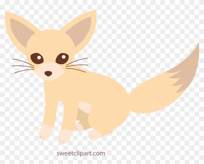 Fox Clipart Baby Fox - Cute Fennec Fox Drawing - Png Download@pikpng.com