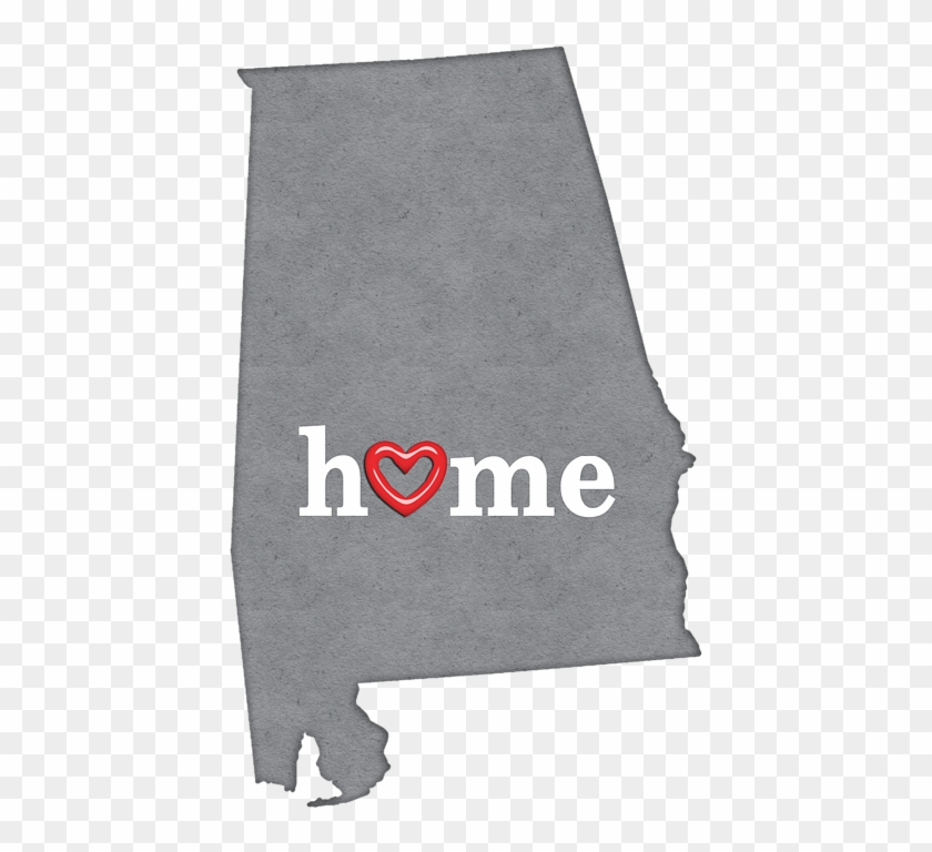 State Map Outline Oklahoma With Heart In Home Clipart #5732498