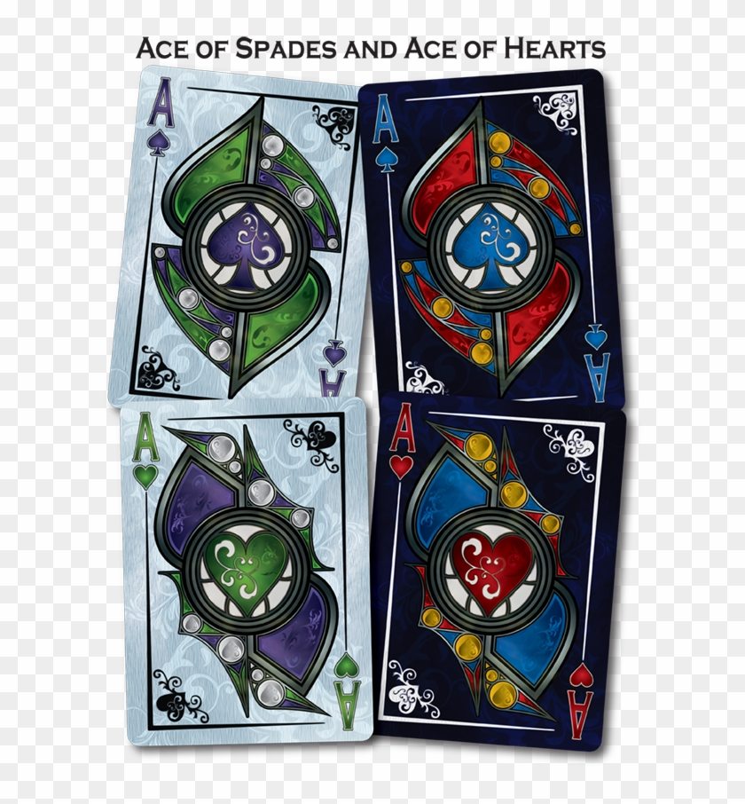 Back To Gothique Playing Cards - Stained Glass Clipart #5747911