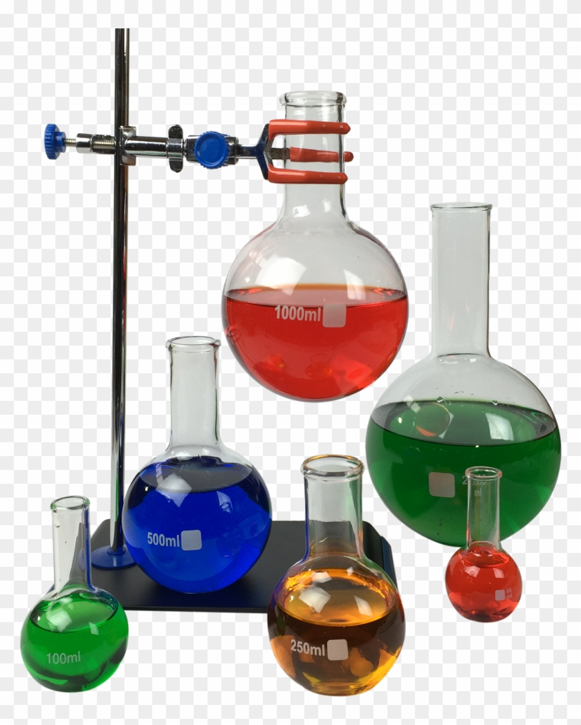 Boroscilicate Glass Boiling Flasks In A Range Of Sizes - Science Flasks Png Clipart #5757160