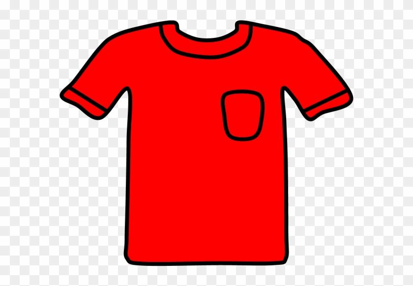 T-shirt, Pocket, Red, Png - Active Shirt Clipart #5772622